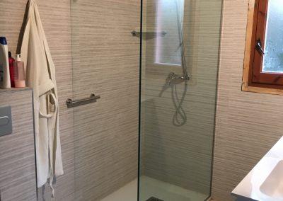 Mampara de cristal ducha